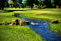 Butte Creek Through the Golf Course - Chico, California - August 1, 2005