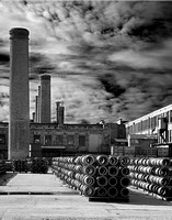 Smoke Stacks - Gladding McBean Manufacturing - Lincoln, California - March 4, 2006