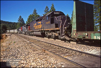 DRGW 5405 mid-train helpers - Towle - August 18, 1995