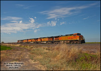 BNSF 4657 nb Detour - Richvale, California - July 8, 2015